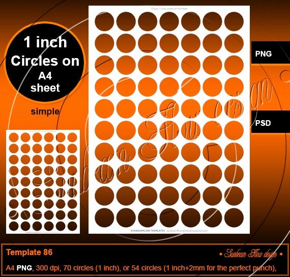 1 Inch Circle Template Awesome Instant Download 1 Inch Circles Template 86 Printable Bottle