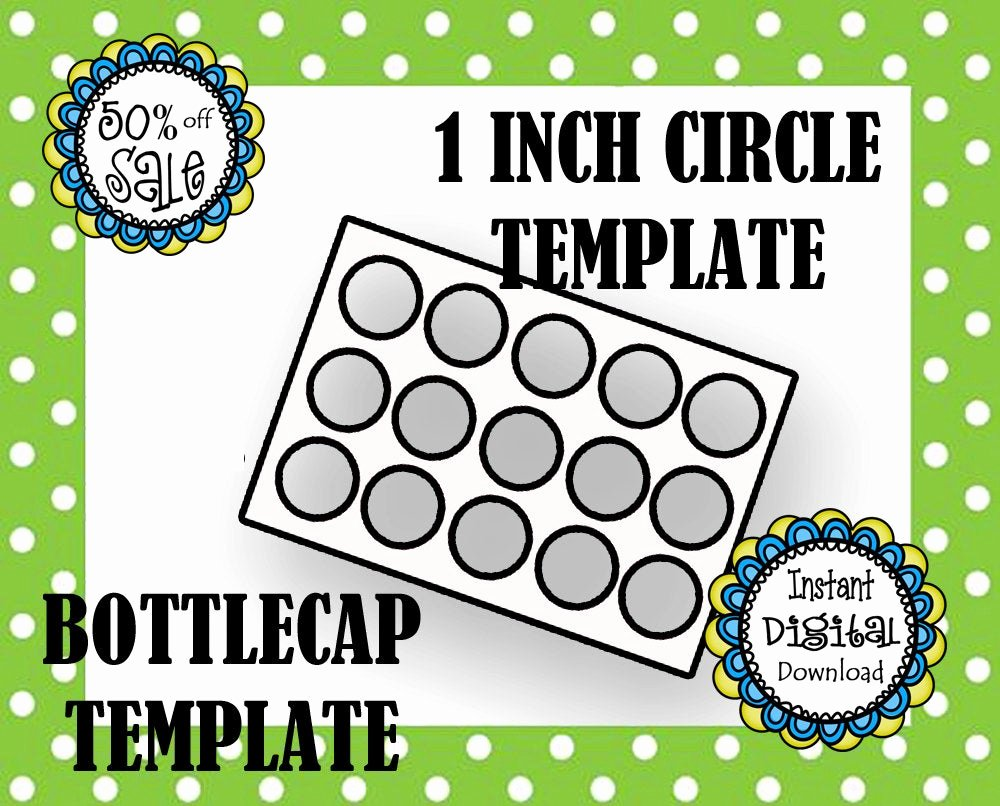 1 Inch Circle Template Elegant 1 Inch Circle Template Bottle Cap Template Make Your Own