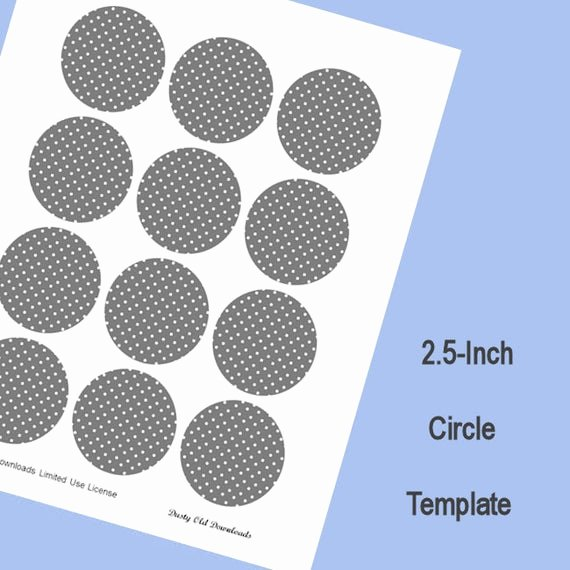 1 Inch Circle Template New 2 5 Inch Circle Template Digital Download
