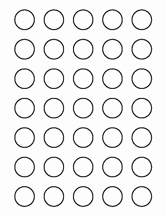 1 Inch Circle Template Unique 1 Inch Circle Pattern Use the Printable Outline for
