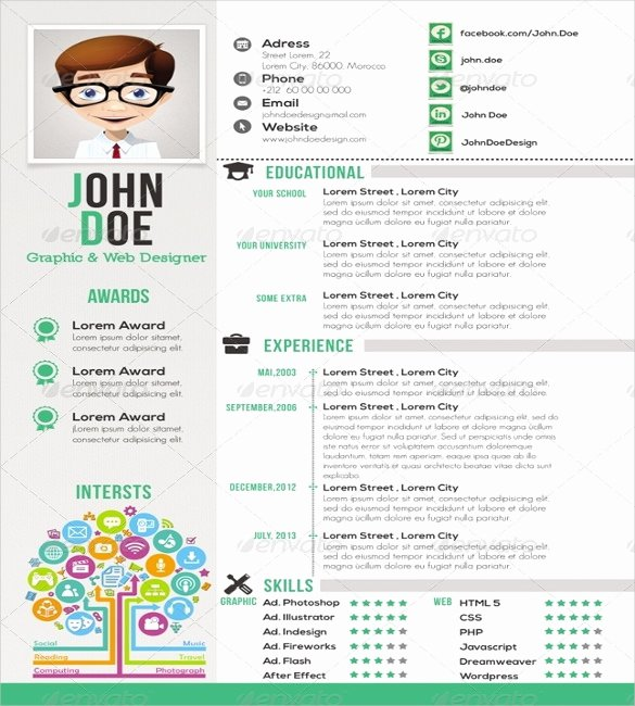 1 Page Resume Template Fresh 41 E Page Resume Templates Free Samples Examples