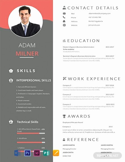 1 Page Resume Template Fresh 91 Free E Page Resume Templates Word Psd