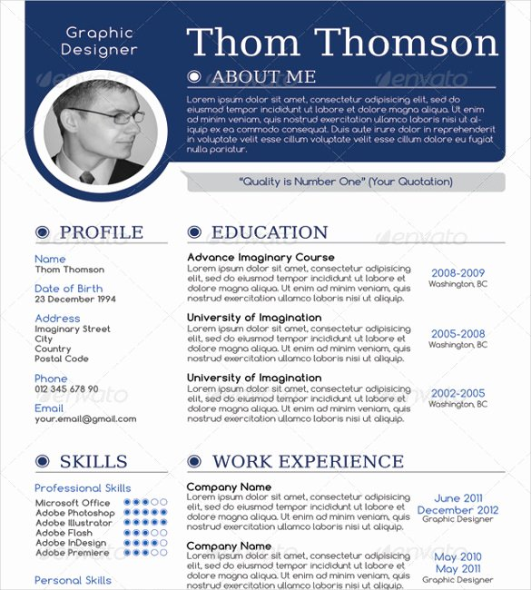 1 Page Resume Template Lovely 41 E Page Resume Templates Free Samples Examples