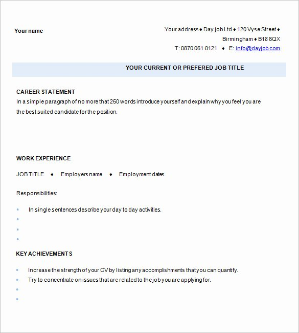 1 Page Resume Template Unique 41 E Page Resume Templates Free Samples Examples