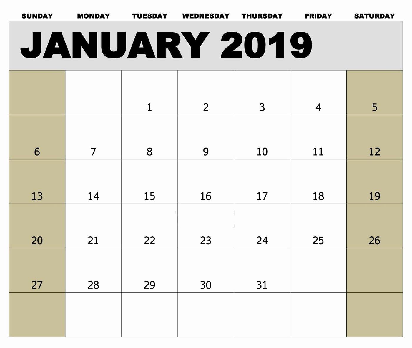 2019 Biweekly Payroll Calendar Template Awesome 2019 Payroll Calendar Printable