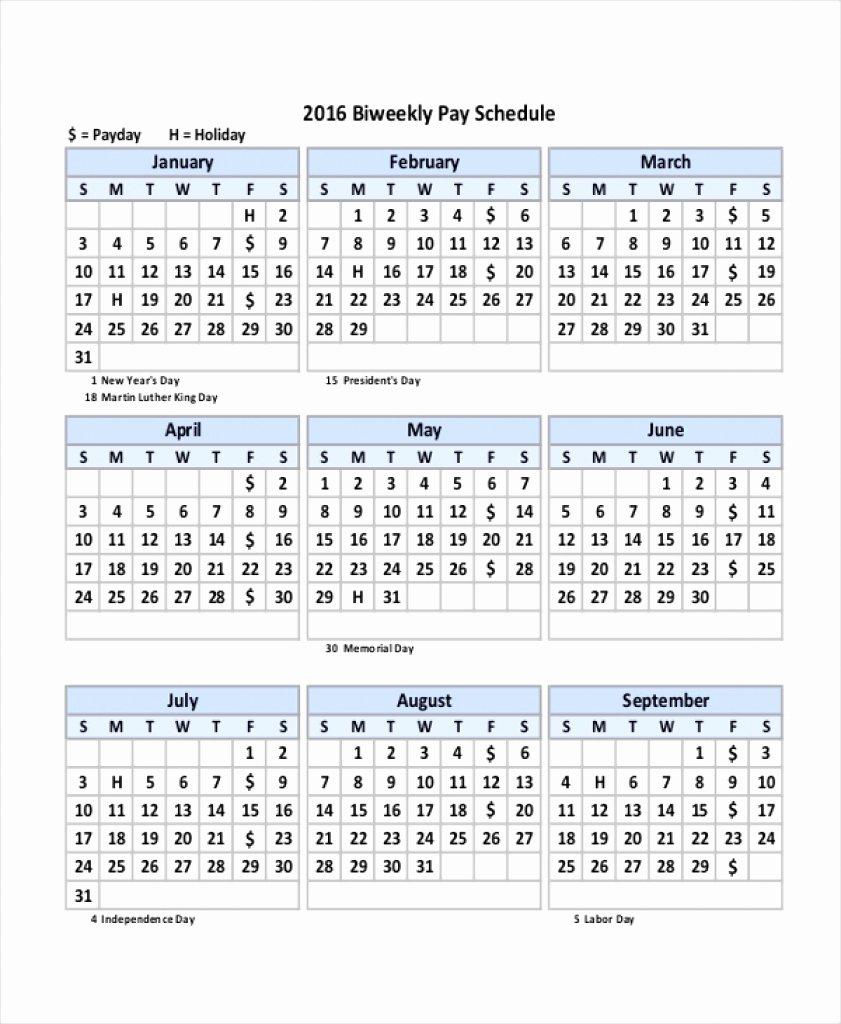2019 Biweekly Payroll Calendar Template Fresh 2019 Weekly Payroll Calendar Adp