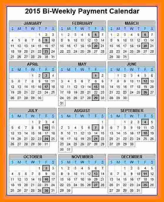 2019 Biweekly Payroll Calendar Template Inspirational 6 2018 Biweekly Payroll Calendar Template