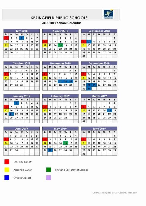 2019 Biweekly Payroll Calendar Template New 2018 2019 Payroll Calendar by Springfield Flipsnack