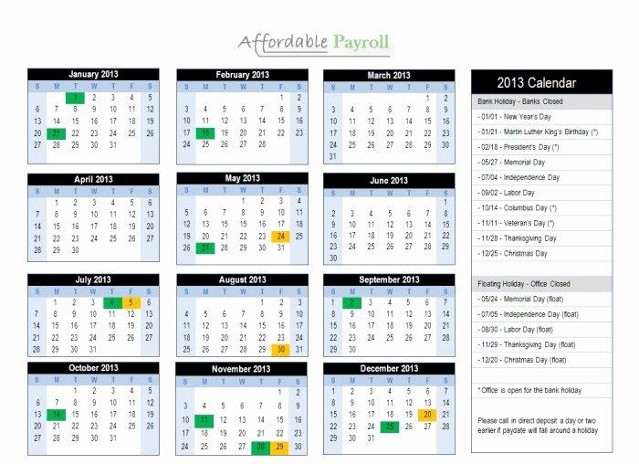 2019 Biweekly Payroll Calendar Template Unique Adp 2016 Payroll Calendar Printable