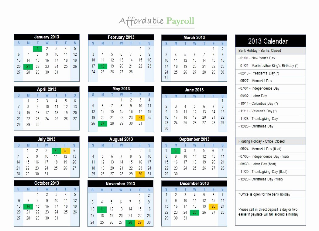 2019 Biweekly Payroll Calendar Template Unique Adp Biweekly Payroll Calendar 2019