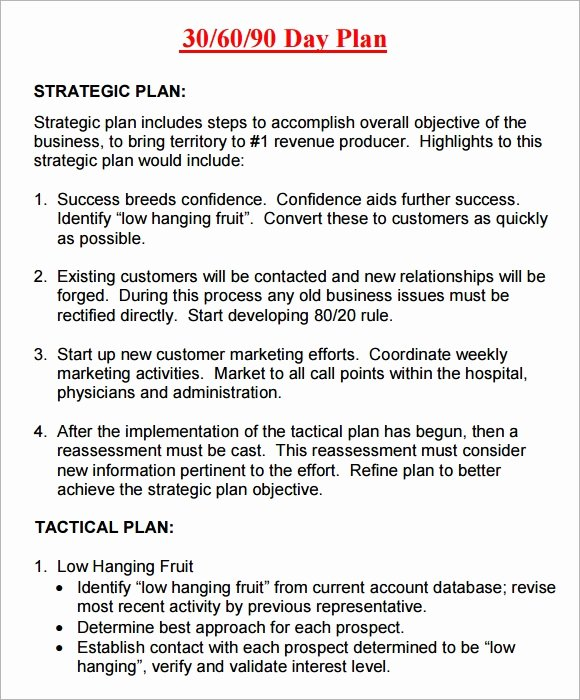 30 60 90 Plan Templates Elegant 20 Sample 30 60 90 Day Plan Templates In Google Docs