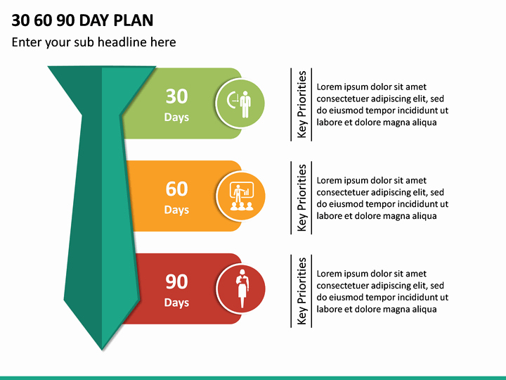 30 60 90 Plan Templates New 30 60 90 Day Plan Powerpoint Template