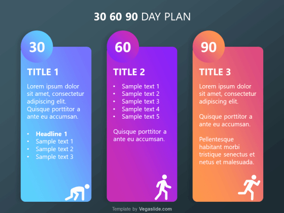 30 60 90 Plan Templates New Refreshing 30 60 90 Day Plan Powerpoint Template Vegaslide