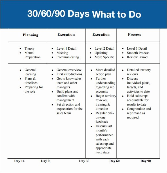 30 60 90 Plan Templates Unique 30 60 90 Day Plan Template 7 Free Download for Pdf