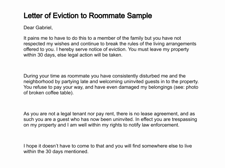 30 Day Eviction Notice form Awesome 30 Day Eviction Notice