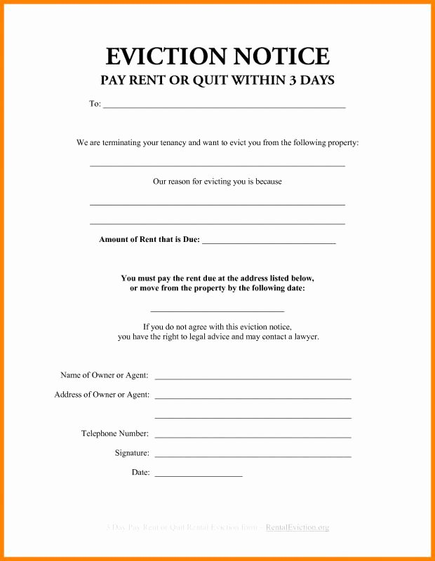 30 Day Eviction Notice form Elegant 30 Day Eviction Notice Template