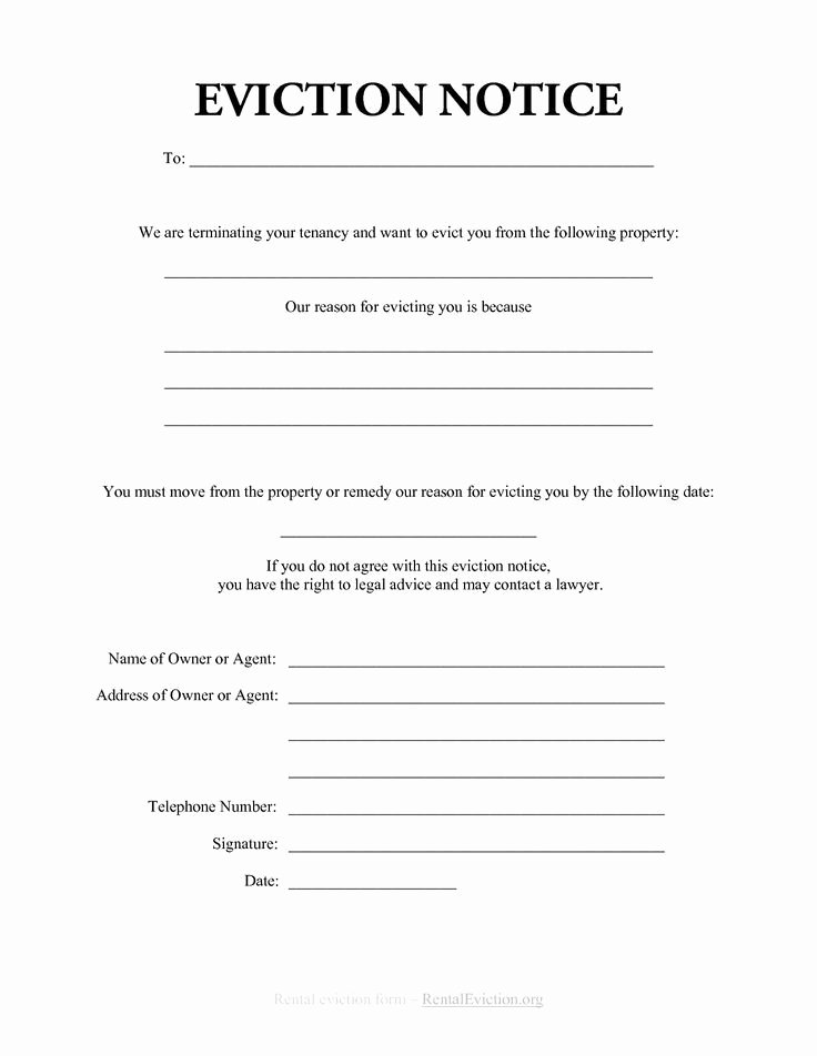 30 Day Eviction Notice form Unique Printable Sample Eviction Notices form