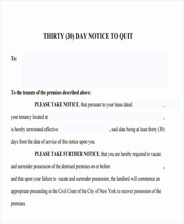 30 Day Eviction Notice Template Awesome 32 Eviction Notice Templates Pdf Google Docs Ms Word