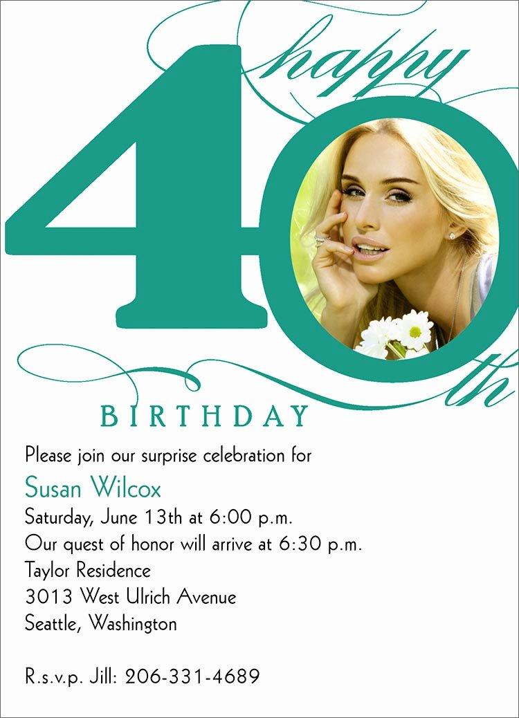 40th Birthday Invitation Wording Beautiful 40th Milestone Birthday Birthday From Cardsdirect