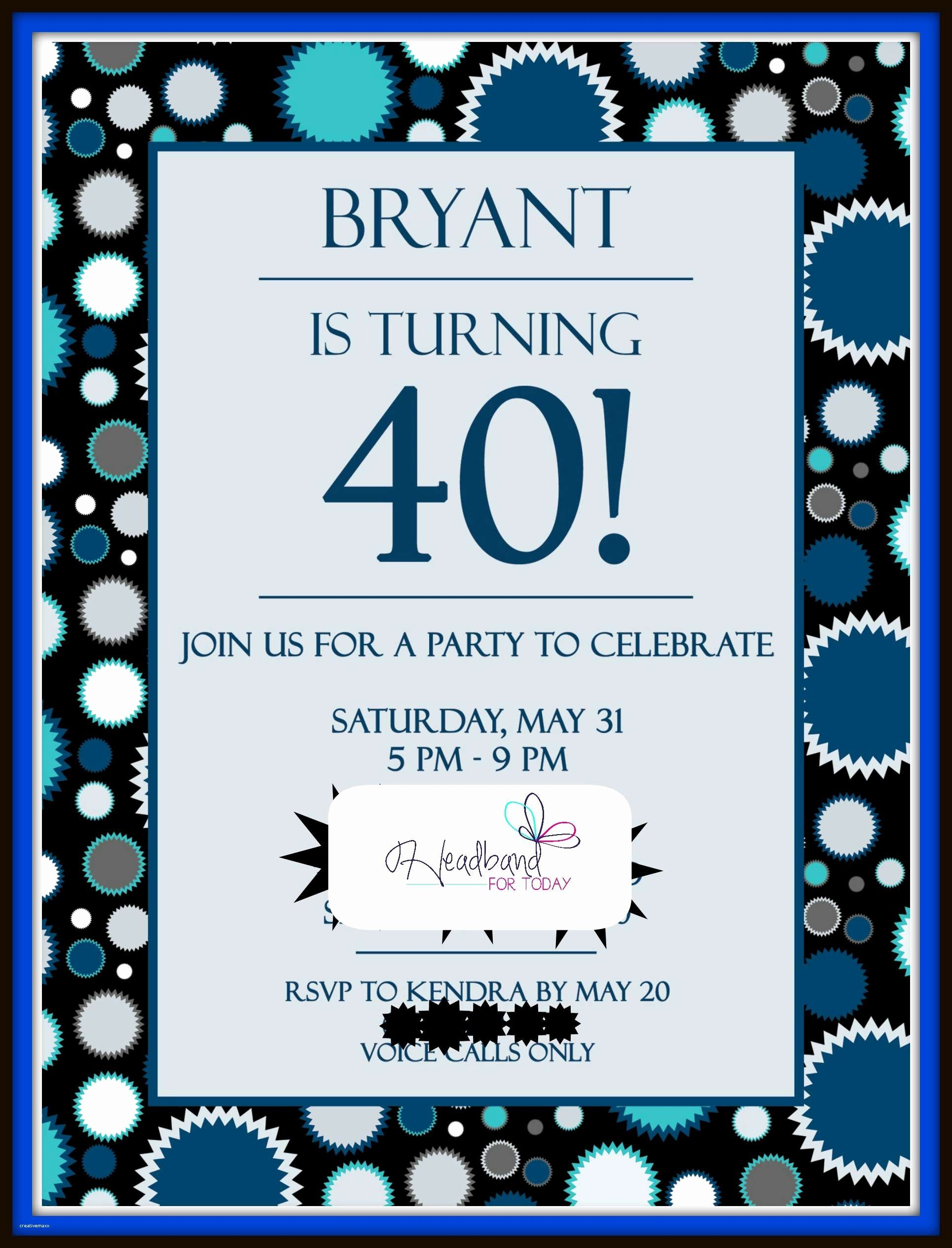 40th Birthday Invitation Wording Beautiful New 40th Birthday Party Invitations for Him Creative