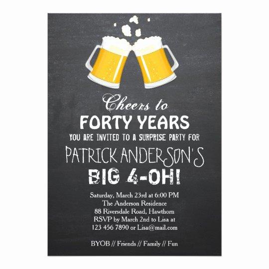 40th Birthday Invitation Wording Best Of Free 40th Birthday Invitation Wording – Free Printable