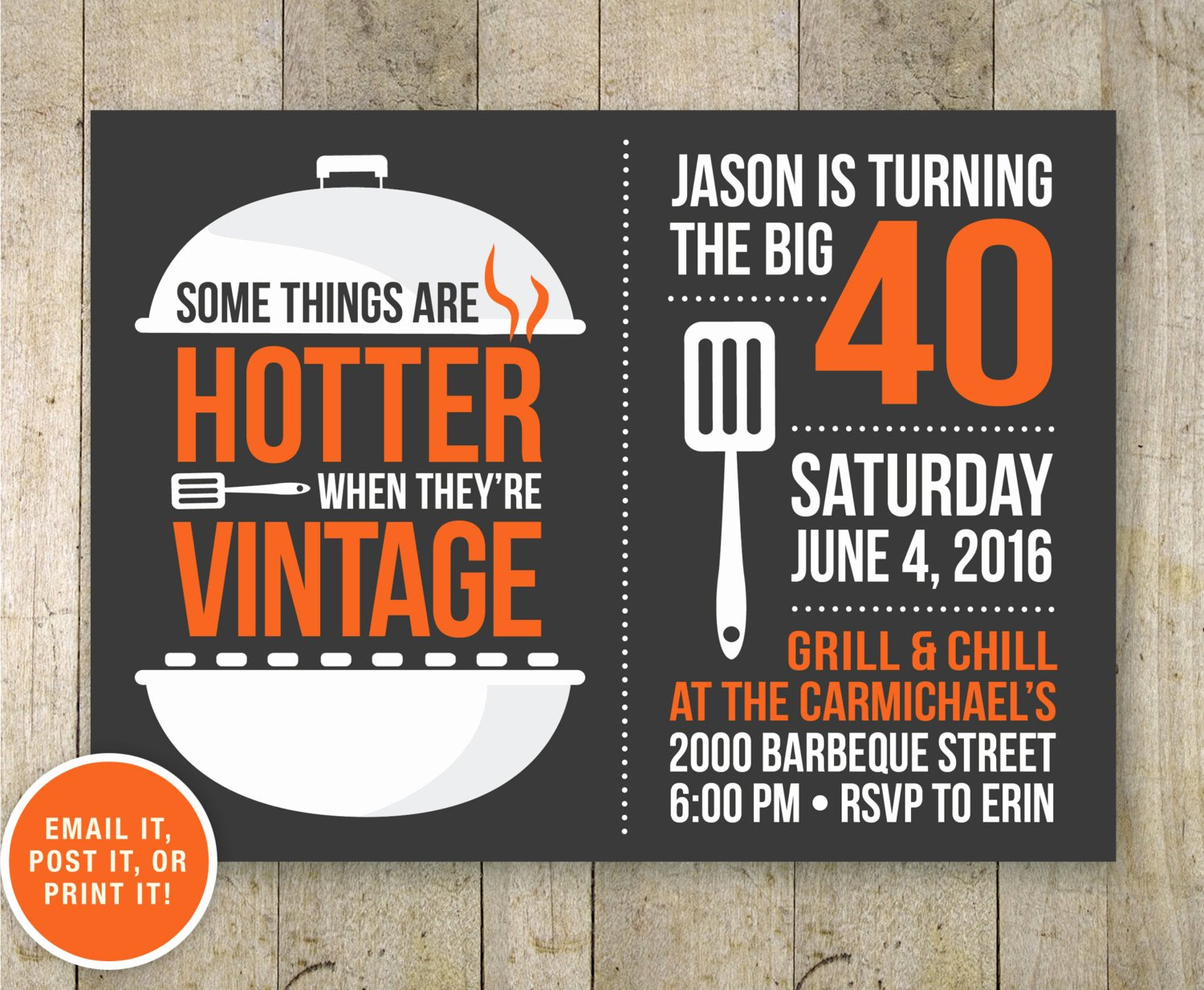 40th Birthday Invitation Wording Elegant 40th Bbq Birthday Invitation Bbq Beer Party Adult 40th