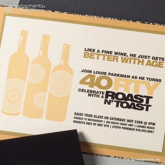 40th Birthday Invitation Wording Inspirational Items Similar to 40th Birthday Invitation Roast & toast On