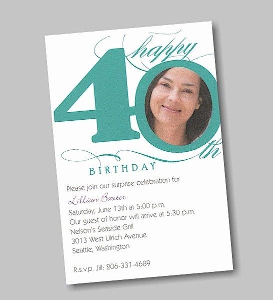 40th Birthday Invitation Wording Luxury Birthday Invitation 40th