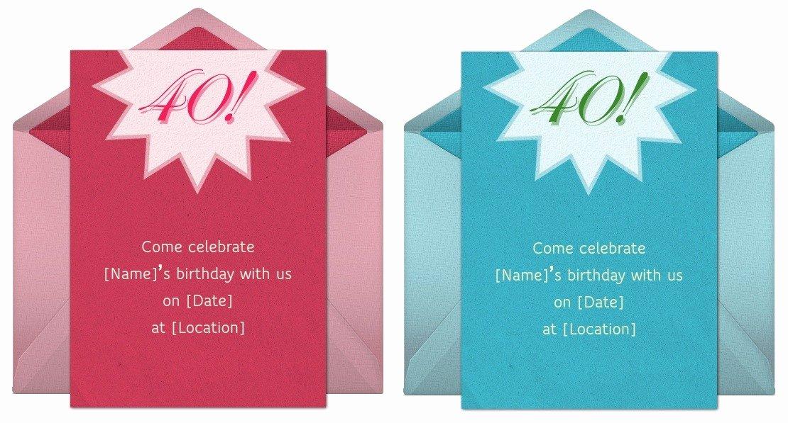 40th Birthday Invitation Wording Unique 40th Birthday Invitation