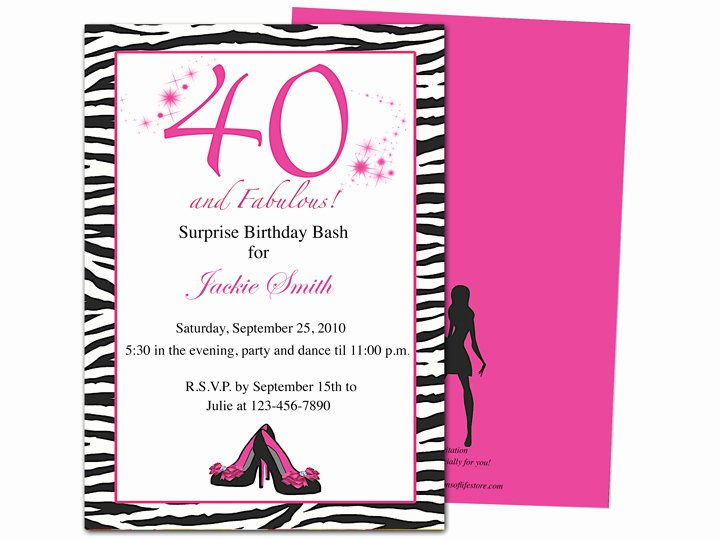 40th Birthday Invitation Wording Unique 40th Birthday Party Invitations Wording