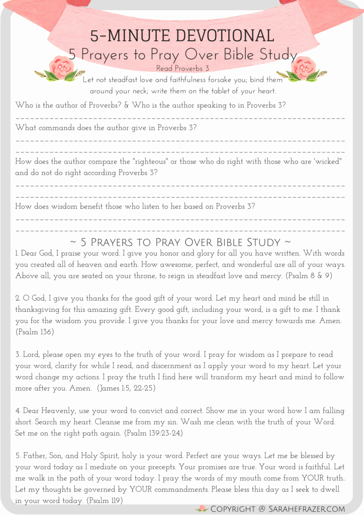 5 Minute Journal Pdf Lovely 5 Minute Devotionals Sarah E Frazer