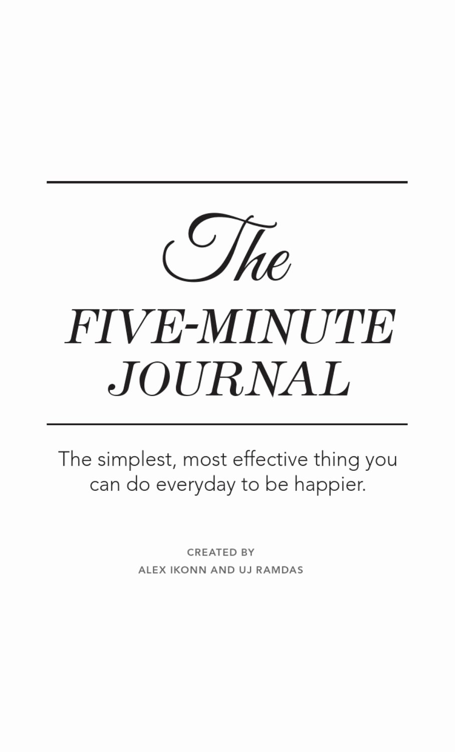 5 Minute Journal Pdf Luxury Five Minute Journal Notes