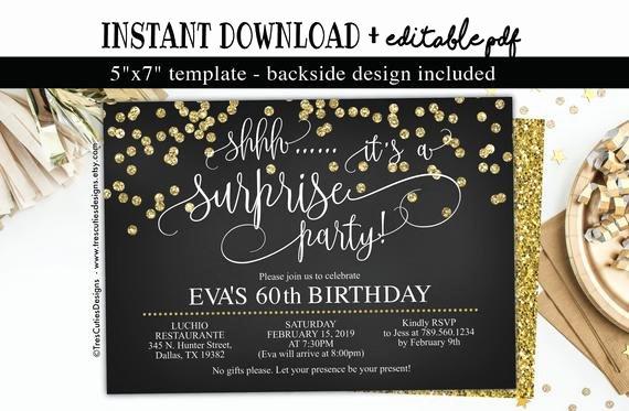 60 Th Birthday Invitation Beautiful Shhh It S A Surprise Invitation 60th Birthday Invitation