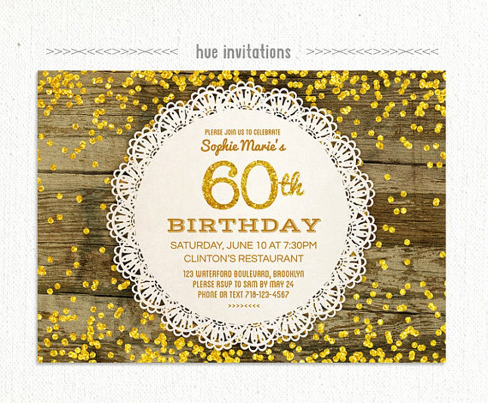 60 Th Birthday Invitation Best Of 20 Ideas 60th Birthday Party Invitations Card Templates