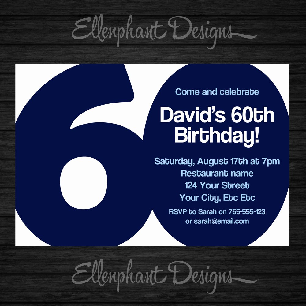 60 Th Birthday Invitation Best Of 60th Birthday Invitation 60 Adult Sixty Also Suit 30th
