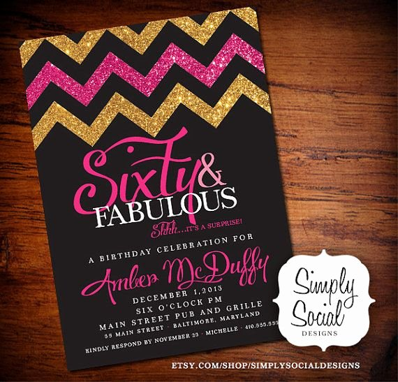 60 Th Birthday Invitation Best Of Best 25 60th Birthday Party Ideas On Pinterest