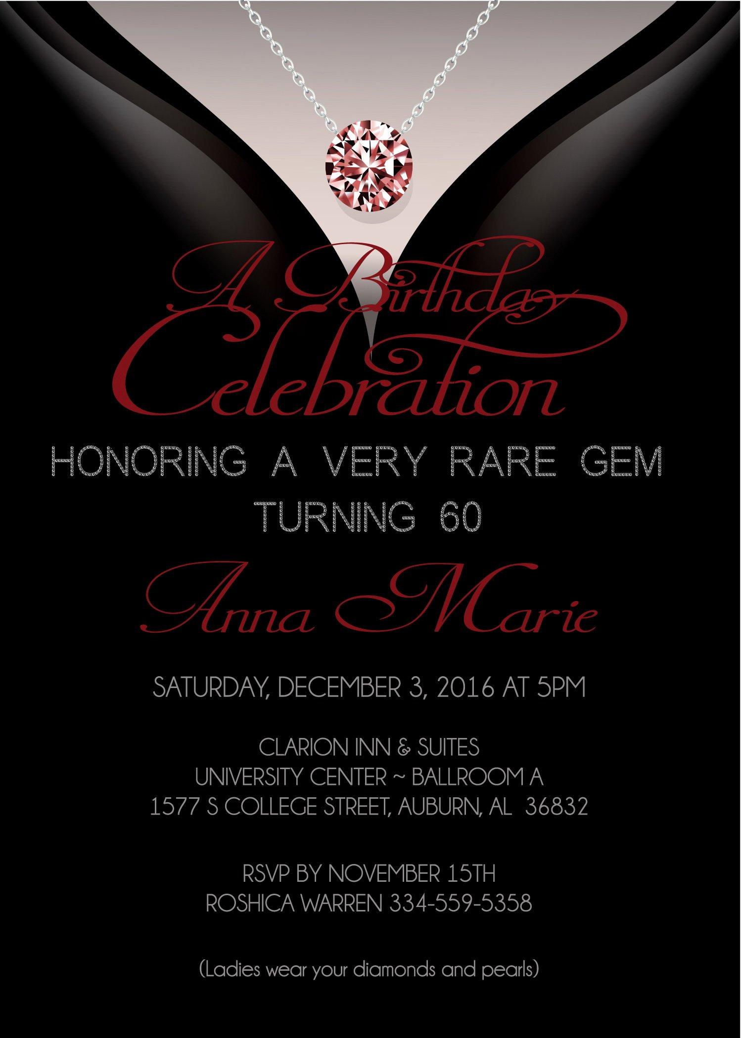 60 Th Birthday Invitation Elegant 60th Birthday Invitations Adult Birthday Invitation