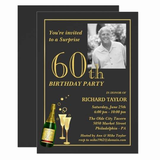 60 Th Birthday Invitation Inspirational Customized 60th Birthday Party Invitations