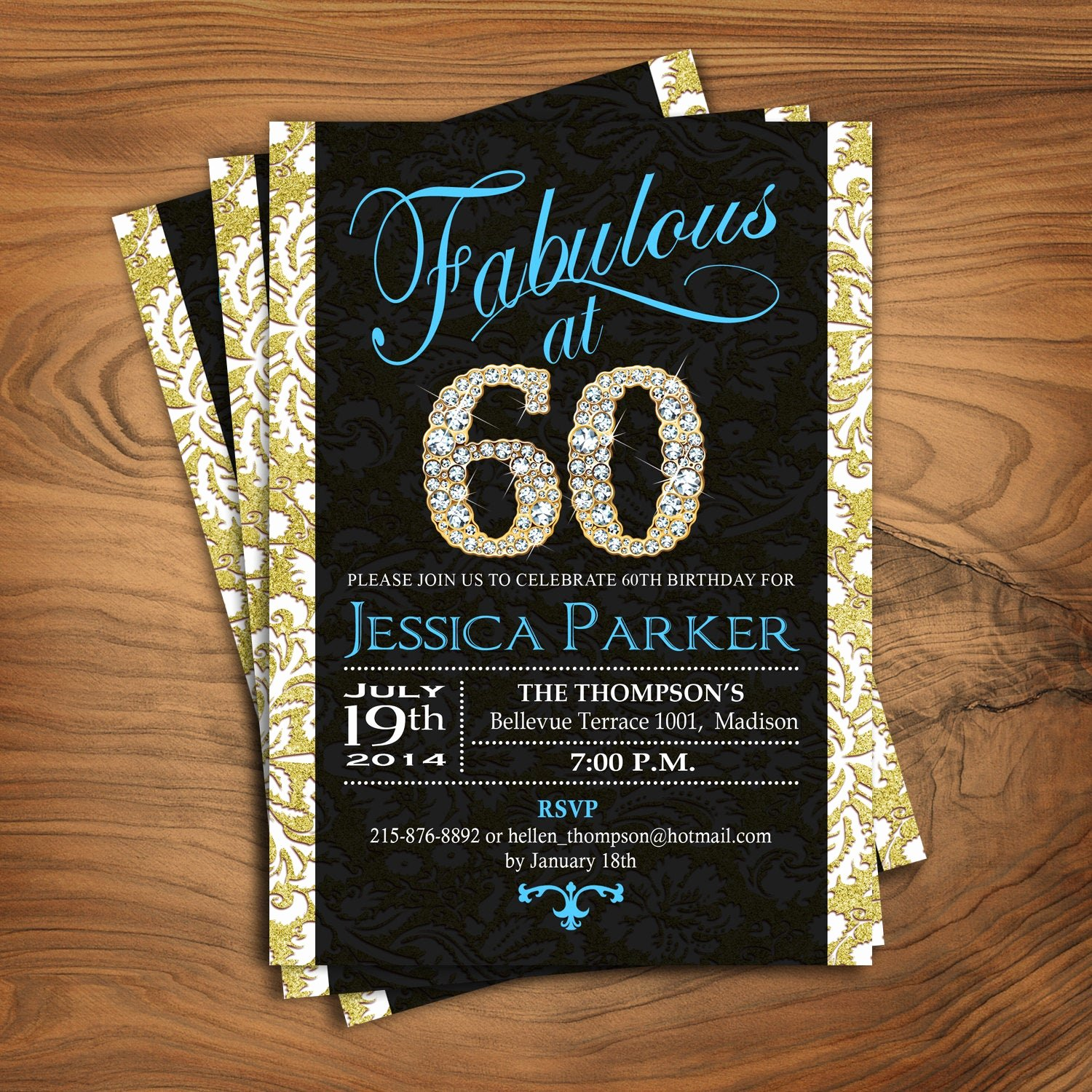 60 Th Birthday Invitation Lovely 60th Birthday Party Invitation for Women 50th 70th