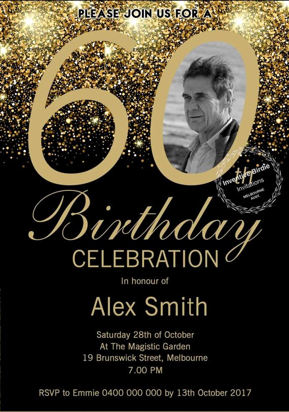 60 Th Birthday Invitation Lovely Surprise 60th Birthday Invitation 60th Birthday Invite