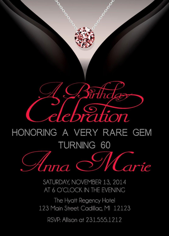 60 Th Birthday Invitation Unique 60th Birthday Invitations Adult Birthday Invitation