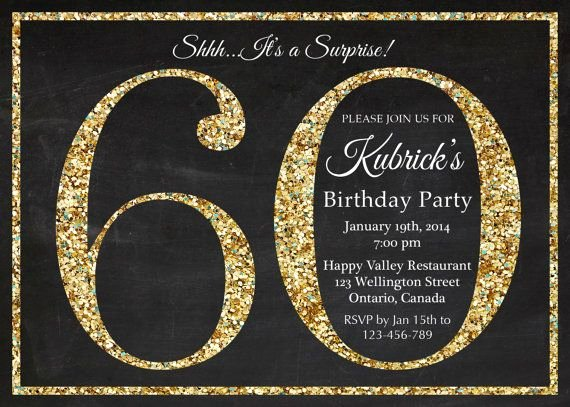60 Th Birthday Invites Best Of 60th Birthday Invitation Gold Glitter Birthday Party