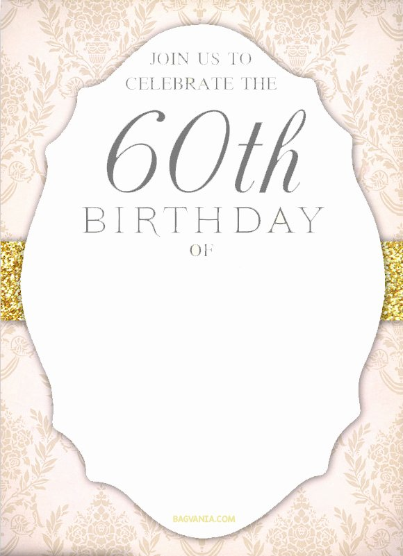 60 Th Birthday Invites Best Of Free Printable 60th Birthday Invitation Templates