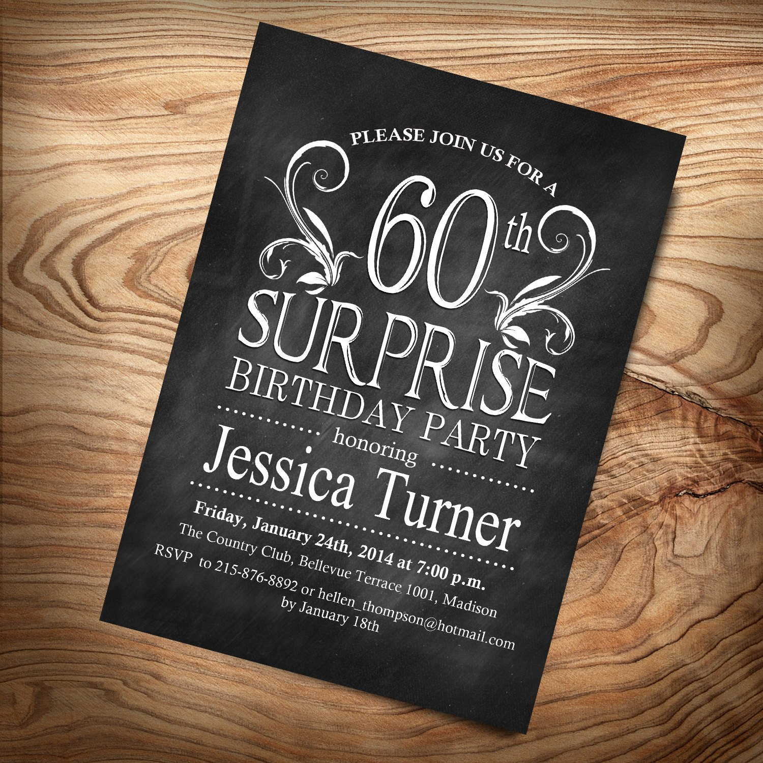60 Th Birthday Invites Best Of Surprise 60th Birthday Invitation Any Age Digital