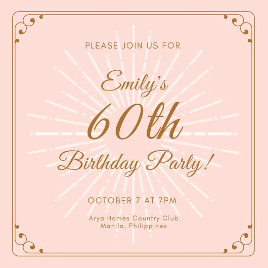 60 Th Birthday Invites Elegant Customize 986 60th Birthday Invitation Templates Online