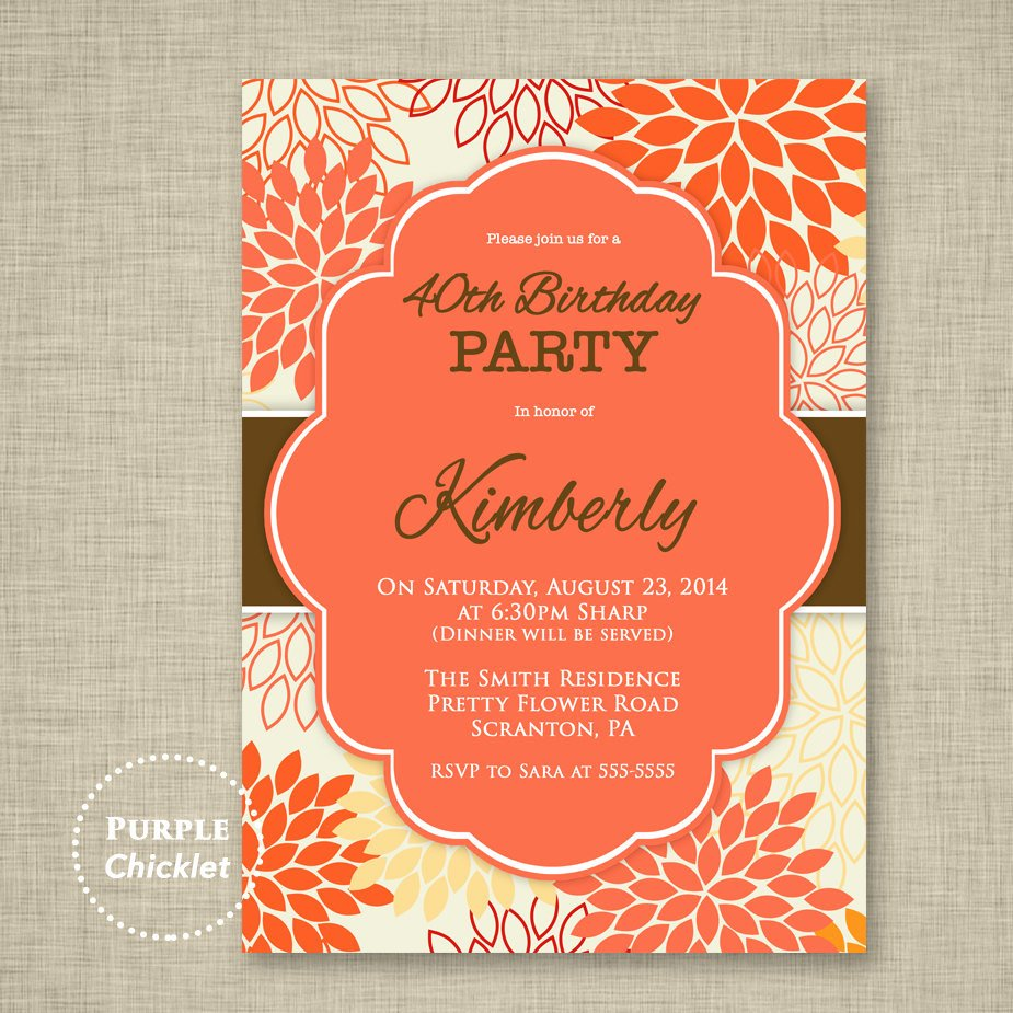 60 Th Birthday Invites Fresh 40th 50th 60th Birthday Invitation Surprise Party Invite