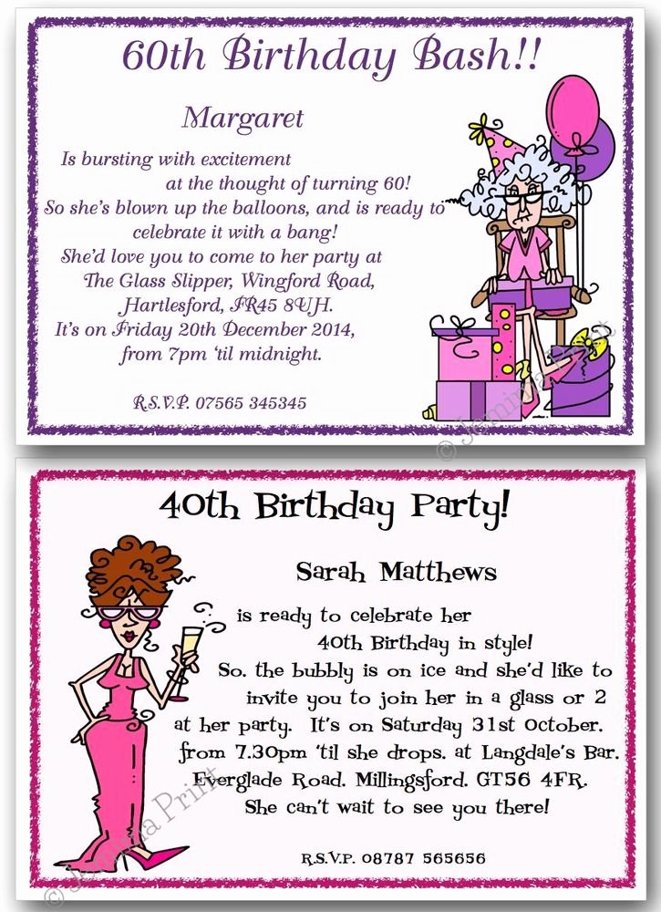 60 Th Birthday Invites Inspirational 30th 40th 50th 60th 70th 80th Personalised Funny Birthday