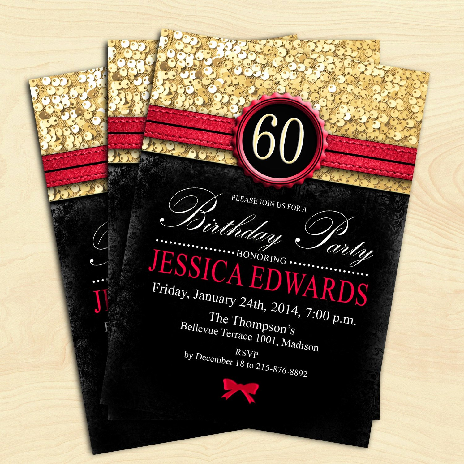 60 Th Birthday Invites Inspirational Women 60th Birthday Invitation 70th 80th 90th Any Age