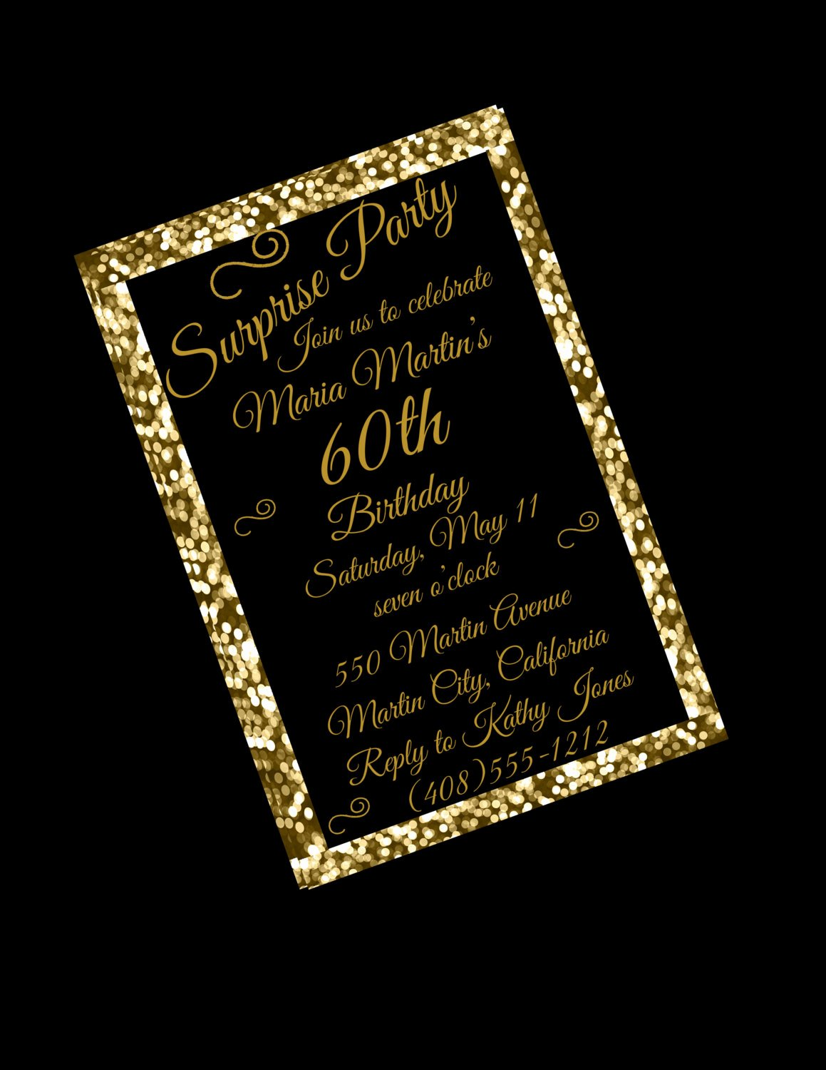 60 Th Birthday Invites Luxury 60th Birthday Invitation 60th Birthday Party 60th Surprise