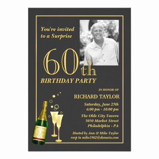 "60 Th Birthday Invites New Customized 60th Birthday Party Invitations 5"" X 7"